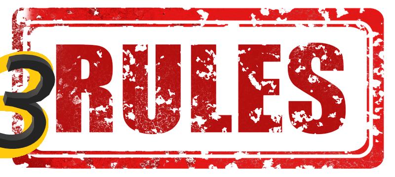 3 основни правила